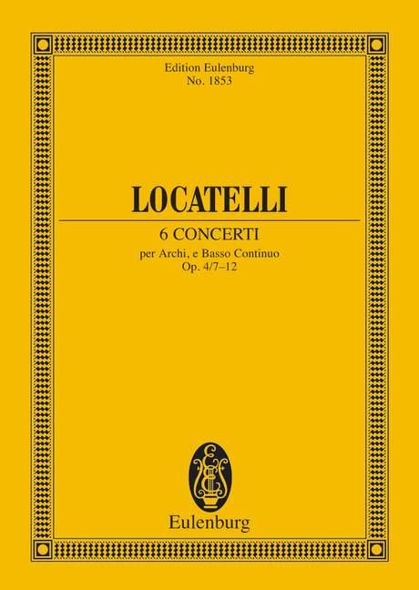 6 concerti opus.4,7-12: für Streichorchester und Bc