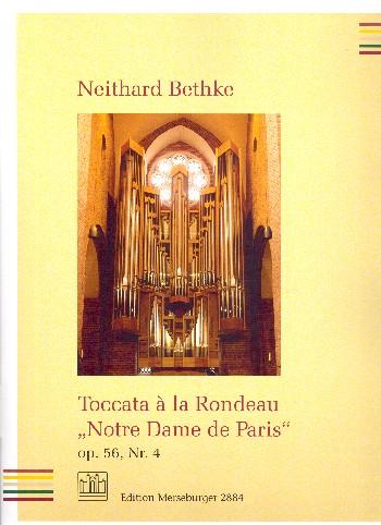 Toccata à la rondeau Notre Dame de Paris op.56,4 : - Vollanzeige.