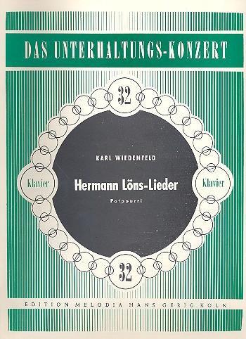 Hermann-Löns-Lieder: Potpourri für Klavier