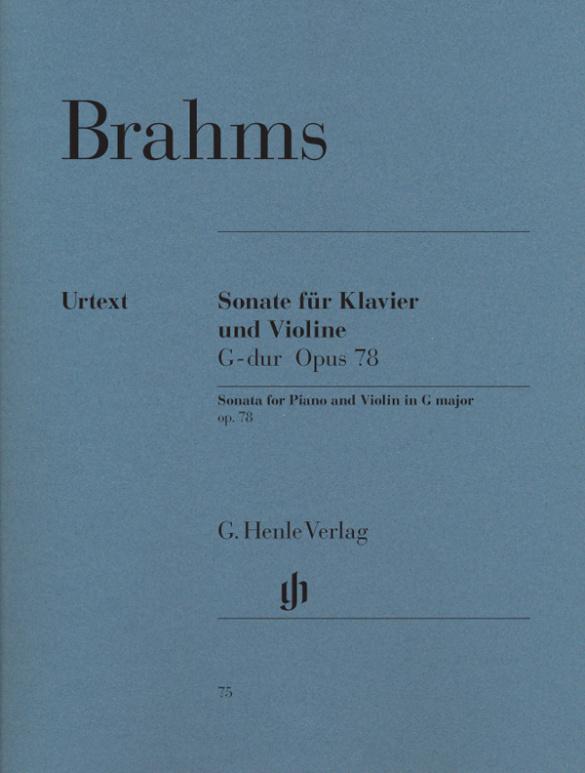 Brahms, Johannes - Sonate G-Dur op.78 : für Violine und Klavier