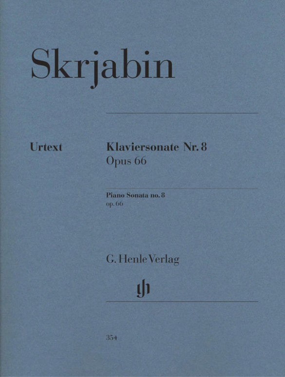 Skriabin, Alexander - Sonate Nr.8 op.66 : für Klavier
