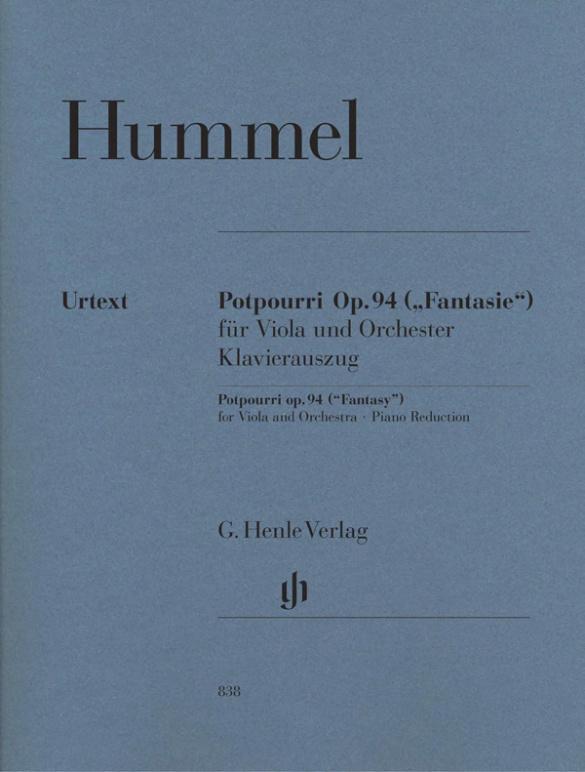 Hummel, Johann Nepomuk - Potpourri op.94 für Viola und Orchester :