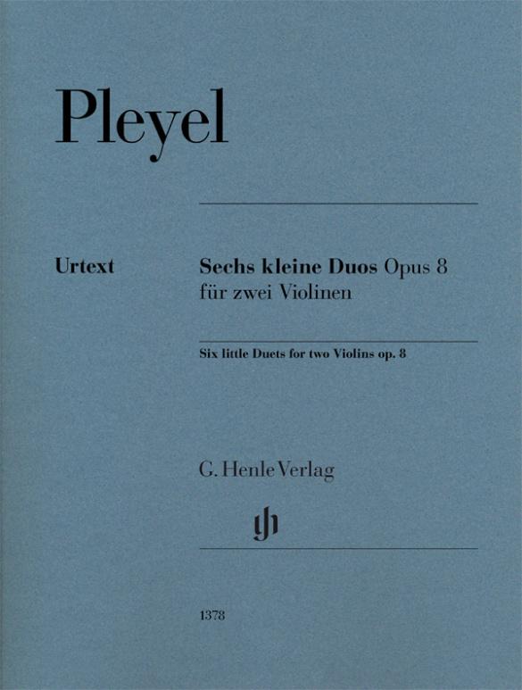 6 kleine Duos opus.8: für 2 Violinen