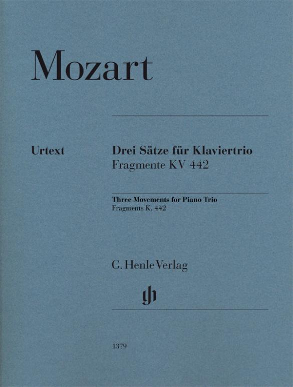 3 Sätze für Klaviertrio (Fragmente KV442) : - Vollanzeige.