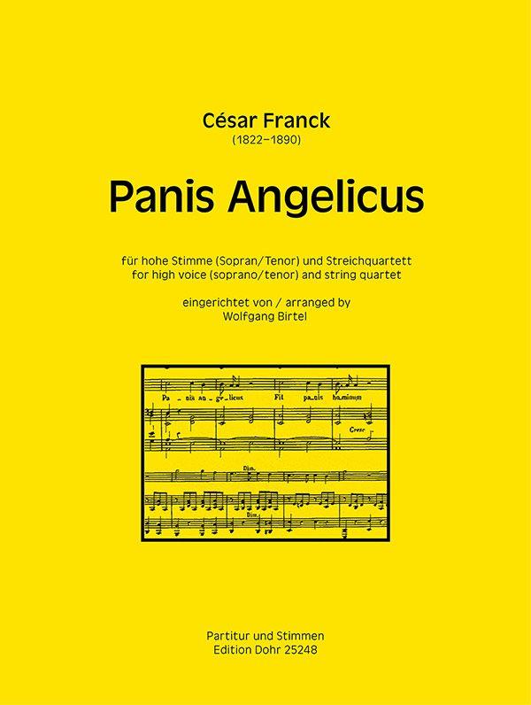 Panis angelicus: für Gesang (hoch) und Streichquartett
