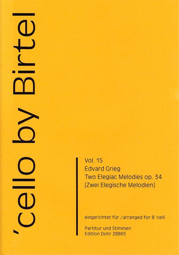 2 Elegische Melodien opus.34: für 8 Violoncelli