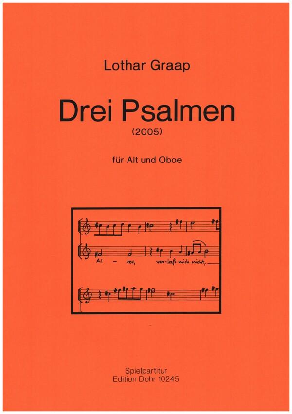 3 Psalmen: für Alt und Oboe Partitur