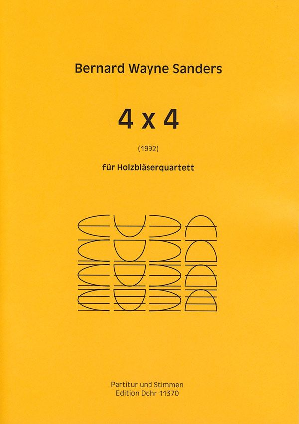 4 x 4: für Flöte, Oboe, Klarinette und Fagott