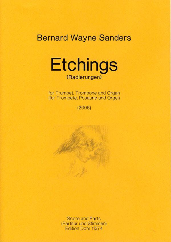 Etchings: für Trompete, Posaune und Orgel Stimmen