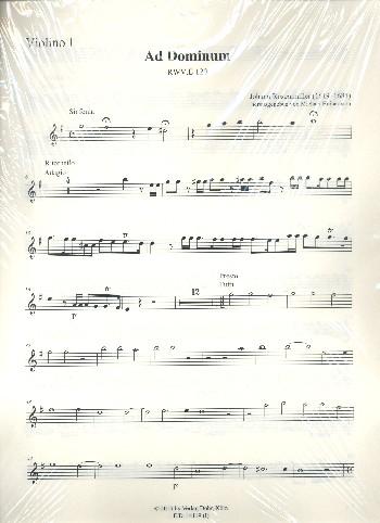 Ad Dominum cum tribularer RWV.E120: für Sopran, Alt, Tenor, Bass, 2 Violen, Fagott und Bc