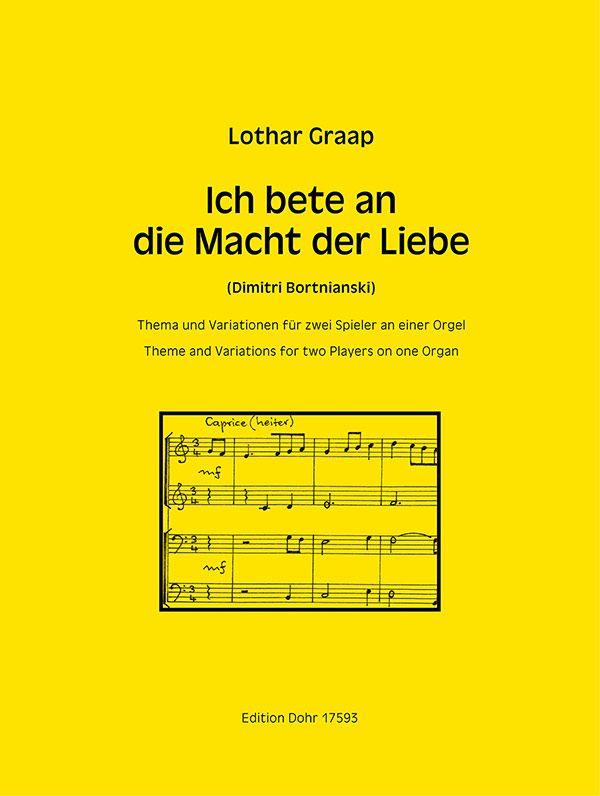 Graap, Lothar - Thema und Variationen über Ich bete an die Macht der Liebe :