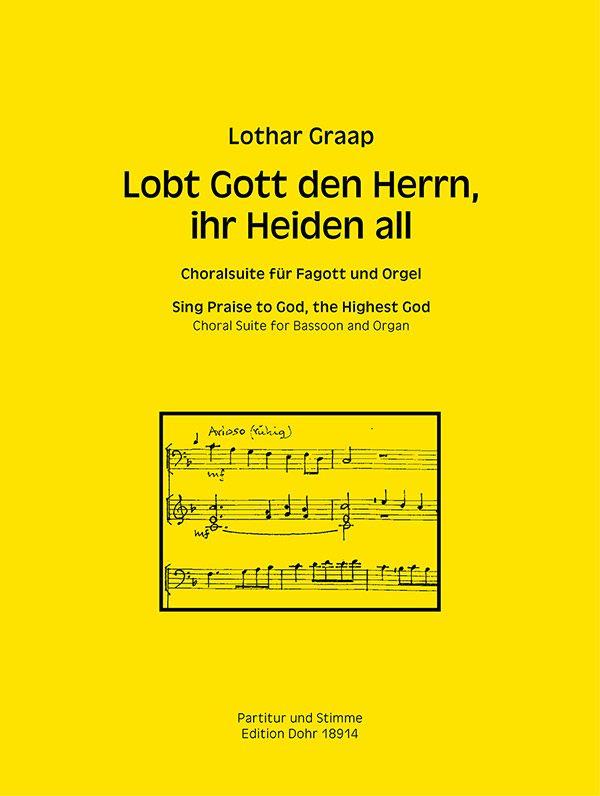 Lobt Gott den Herrn ihr Heiden all: für Fagott und Orgel