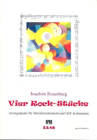 4 Rock-Stücke (+CD-ROM): für Blockflöte und Orff-Instrumente