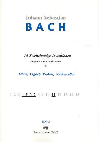 15 zweistimmige Inventionen Band 2: für Oboe, Fagott, Violine und Violoncello