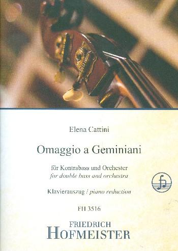 Omaggio a Geminiani für Kontrabass - Vollanzeige.