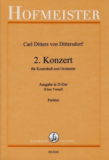 Konzert D-Dur: für Kontrabaß und Orchester
