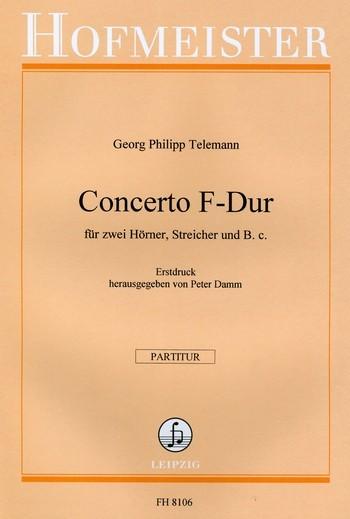 Concertino F-Dur: für Horn und Orchester