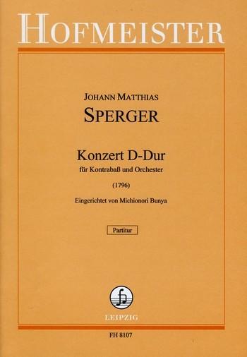 Konzert D-Dur Nr.15: für Kontrabaß und Orchester