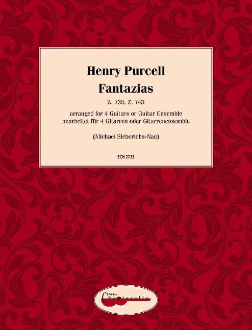 Fantazias Z735 und ZZ743: für 4 Gitarren (Ensemble)