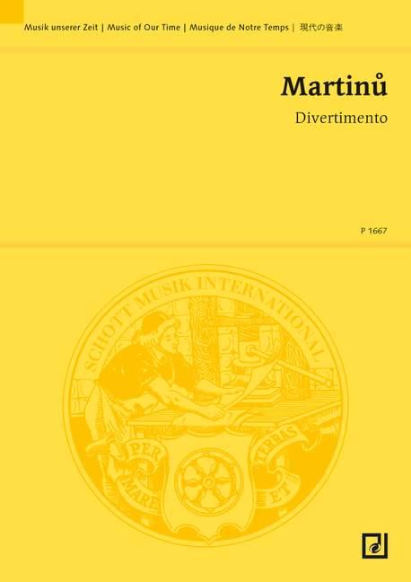 Divertimento: für Klavier linke Hand und Kammerorchester