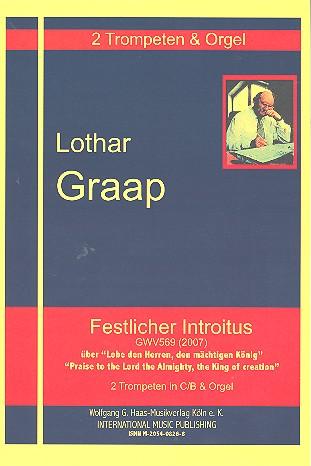 Festlicher Introitus über Lobe den Herren GWV569: für 2 Trompeten und Orgel