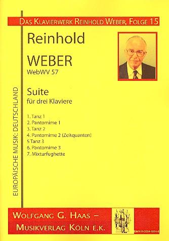 Suite WebWV57: für 3 Klaviere Stimmen
