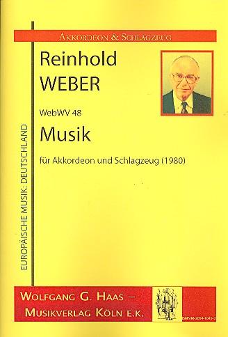 Musik WebWV48: für Akkordeon und Schlagzeug (2 Spieler)