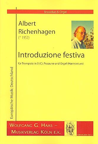 Introduzione festiva: für Trompete, Posaune und Orgel
