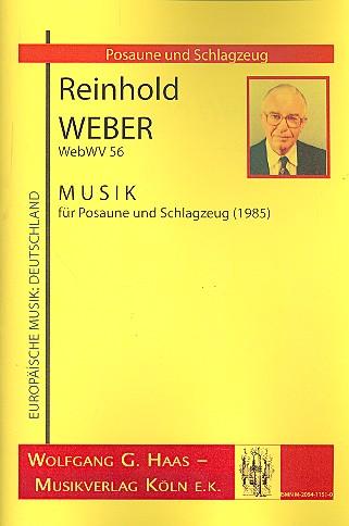 Musik WebWV56: für Posaune und Schlagzeug (2 Spieler)