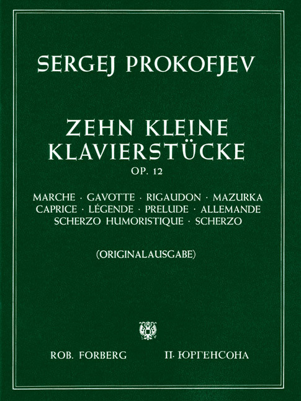 Prokofieff, Serge - 10 kleine Klavierstücke op.12