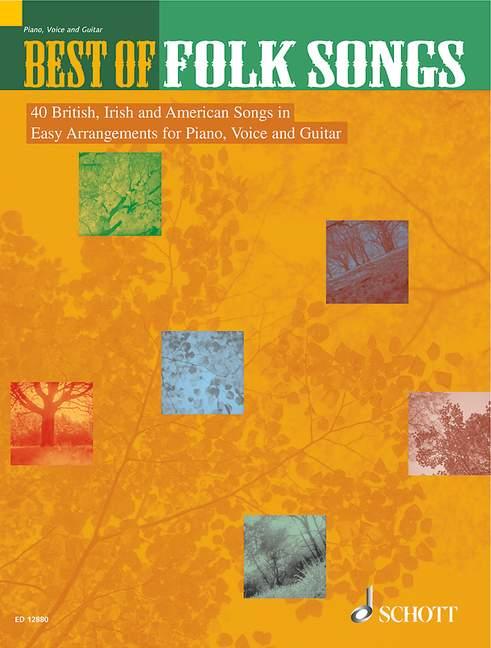 Best of Folk Songs (en): für Gesang, Klavier und Gitarre