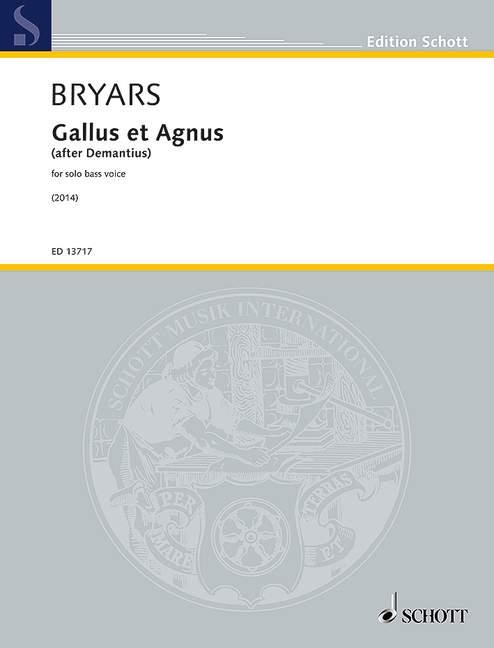 ED13717 Gallus et Agnus: für Bass