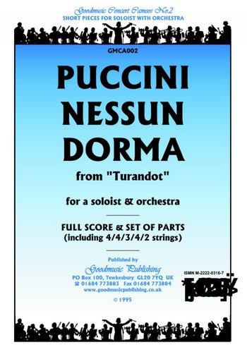Nessun Dorma: for a soloist and orchestra