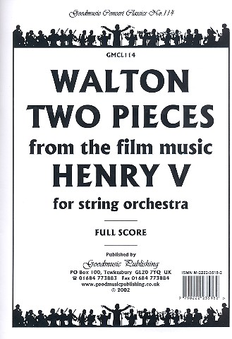 2 Pieces from the Film Music Henry V: for string orchestra