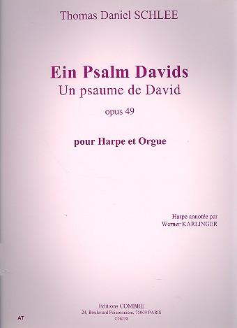 Ein Psalm Davids op.49: pour harpe et orgue