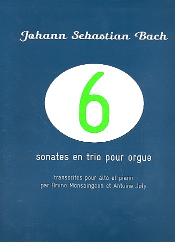 6 sonates en trio pour orgue: pour alto et piano
