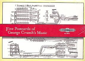 5 Postcards of George Crumb\