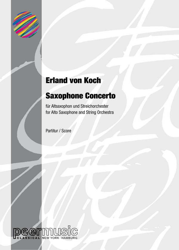 Saxophon-Concerto: for alto saxophone and string orchestra