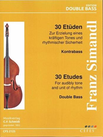 30 Etüden: für Kontrabaß und Klavier Kontrabaß