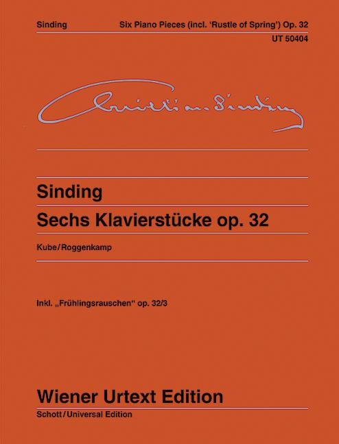 Sinding, Christian - 6 Klavierstücke op.32
