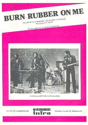Burn rubber on me: Einzelausgabe Gesang und Klavier