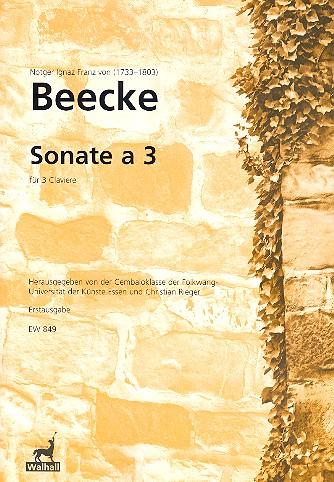 Sonate a 3: für 3 Klaviere Partitur