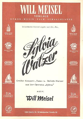 Sylvia-Walzer: für Klavier