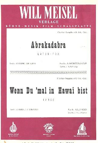 Abrakadabra und Wenn du mal in Hawaii bist: Einzelausgabe