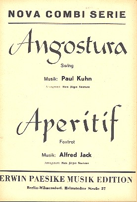 Angostura und Aperitif: für Combo