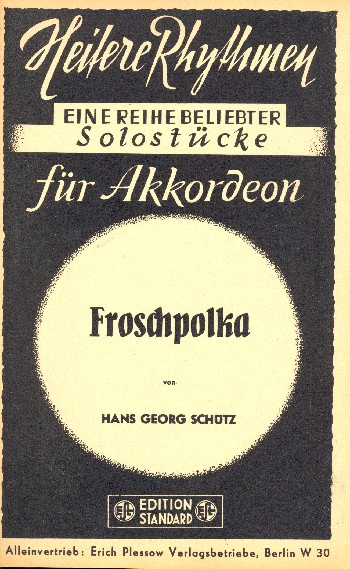 Froschpolka: für Salonorchester Direktion und Stimmen