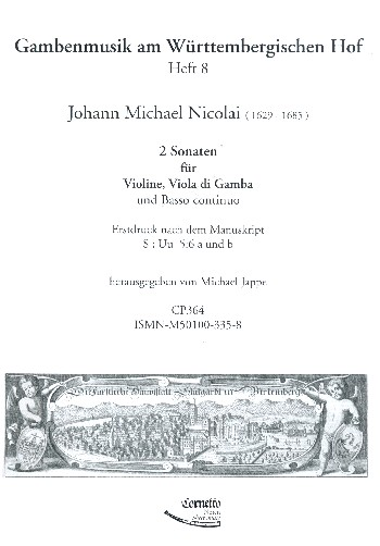 2 Sonaten: für Violine, Viola da Gamba und Bc