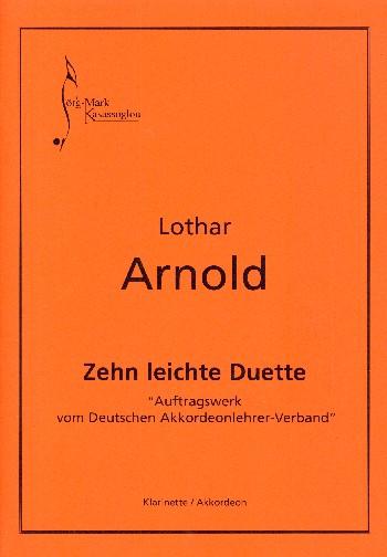 10 leichte Duette: für Klarinette und Akkordeon