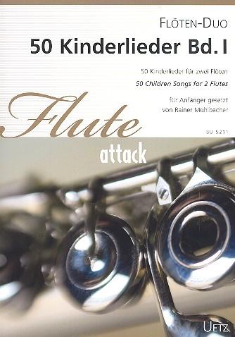 50 Kinderlieder Band 1: für 2 Flöten