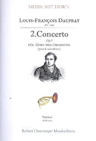 Concerto Nr.2 opus.9: für tiefes Horn und Orchester